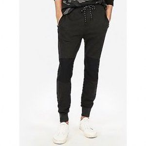 Express Black Side Stripe Relaxed Joggers Fitted